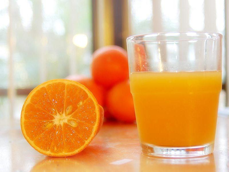 Sinaasappelsap.